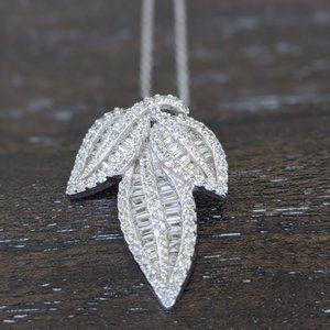 Sterling Silver Bella Luce Leaf Necklace
